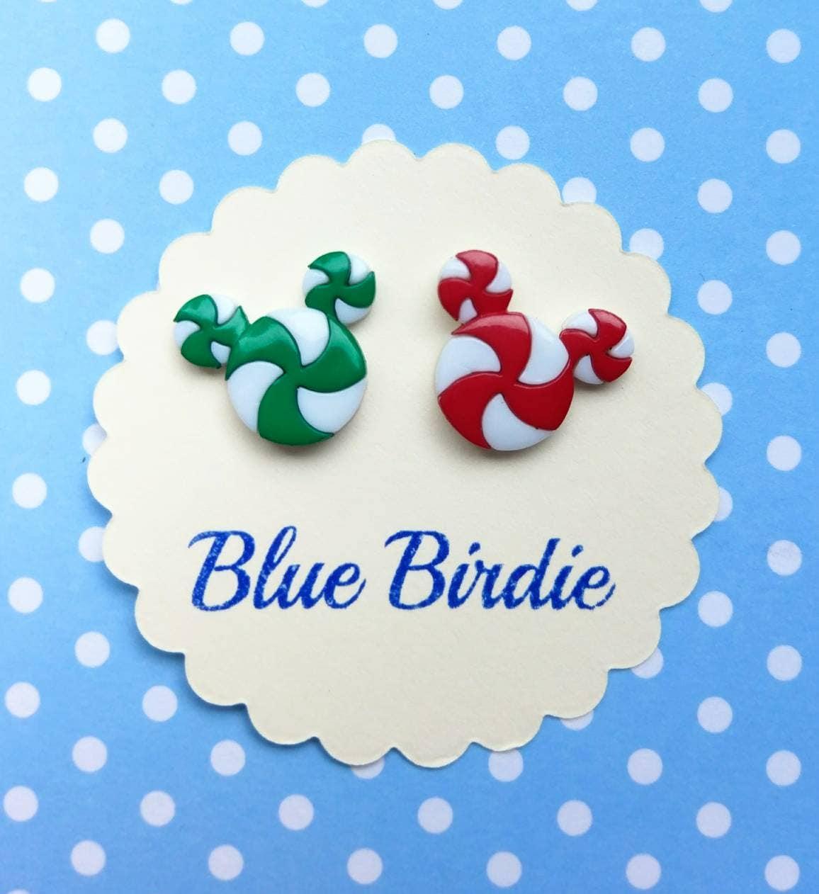 Disney-Candy cane Weihnachten Disney Ohrringe Mickey Mouse | Etsy