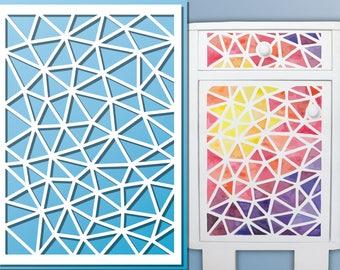 Stencil A4 / 82 x 117 / 21 x 297 cm Polygon Pattern   Etsy