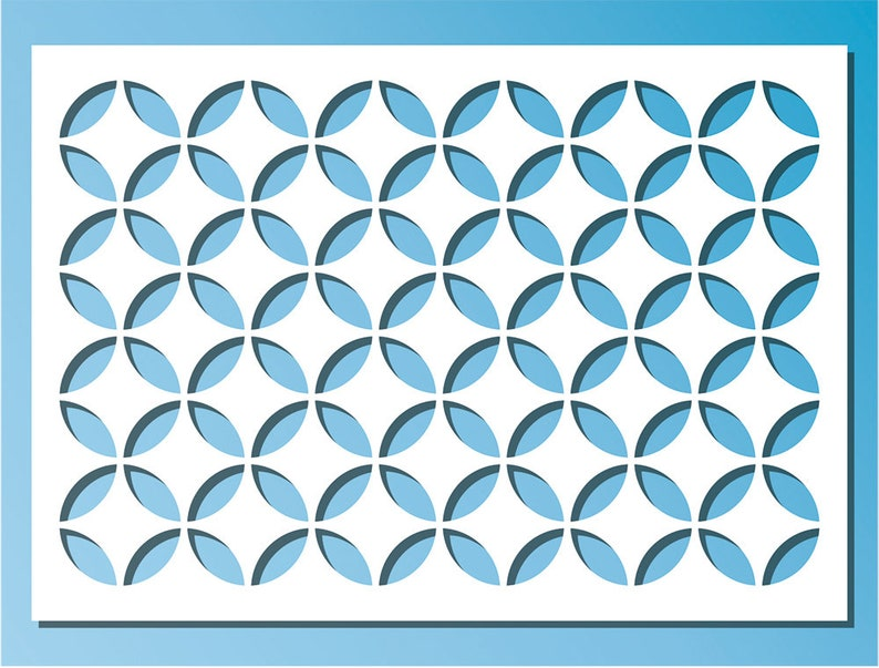 Stencil A4  8,2 x 11,7  21 x 29,7 cm Moroccan Circles Pattern