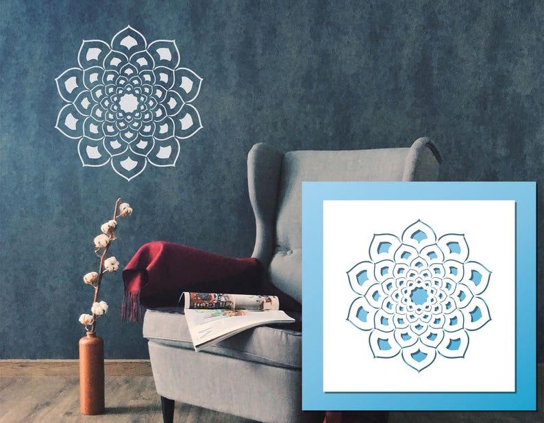 Mandala Stencil  LARGE Wall Art Scrapbooking Baking Craft Stencil