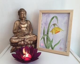 Daffodil, original watercolor