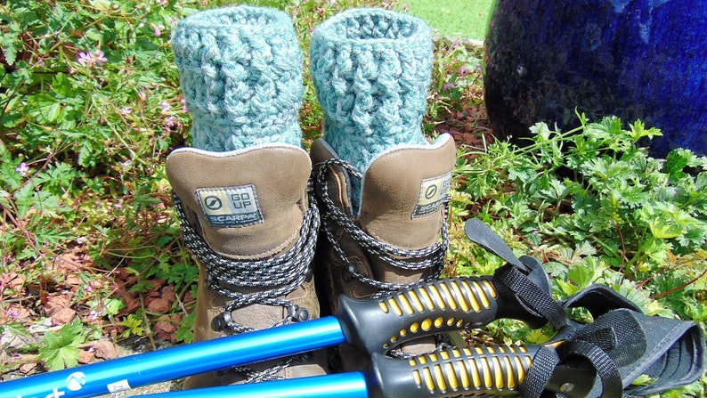 Boot Cuffs Earth Tones Green Chunky Aran Ankle Warmers image 0