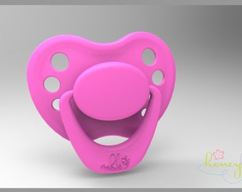 HoneyBug Sweetheart Pacifier Miss Bubblegum INCLUDES MAGNETS /& SHIPPING IN USA!