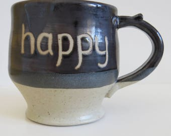 Happy pottery mug