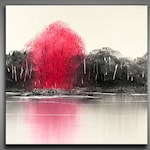 Abstract painting / Wall art / Contemporary abstract / Modern art / Youtube painting / Landscape / Ray Grimes / 12x12