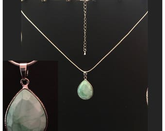 Mint Quartz Pendant Necklace