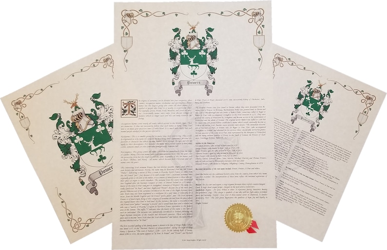 Find Your Name Here: Coat of Arms - Three Print Combo - England / English  Origin (Pabey - Zinser)