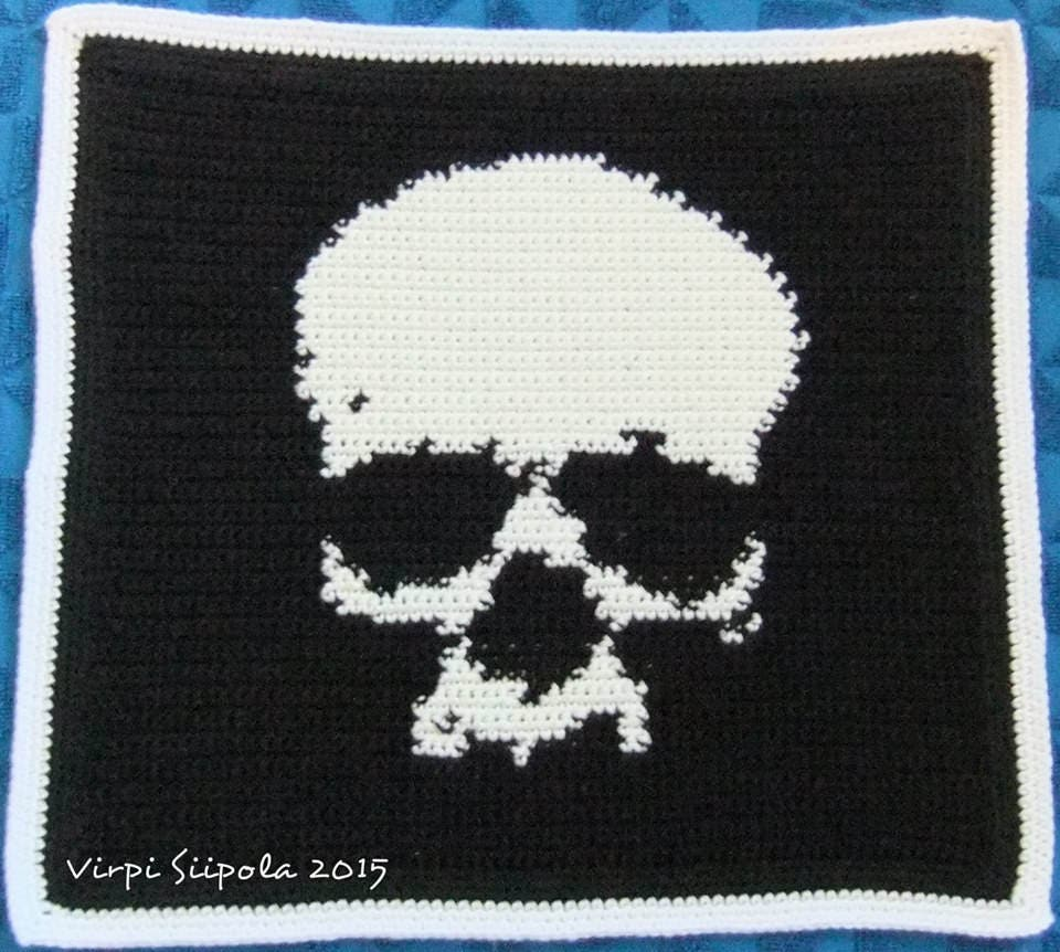 Small Skull Crochet Knitting Pattern Easy Etsy
