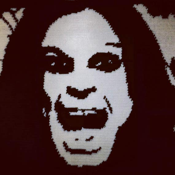 Ozzy Osbourne Crochet Knitting Wall Art Blanket Etsy
