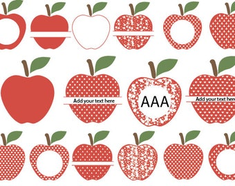 70 % OFF, Apple SVG, Monogram Apple SVG Frames, Apple Monogram Frame svg, png, eps, dxf,Apple Split Monogram Svg,Svg Files,Circle Frames Svg