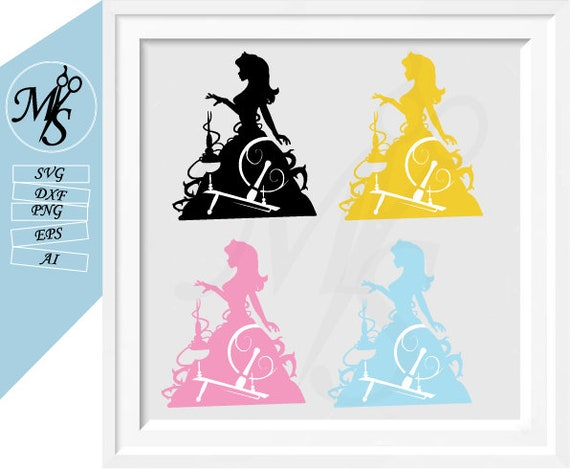 disney princess svg silhouette clipart pack sleeping beauty etsy