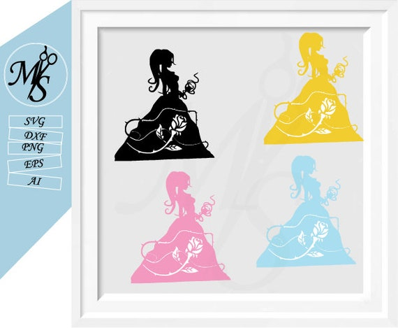 Disney Princess Svg Beauty And The Beast Svg Bundle Beauty Etsy