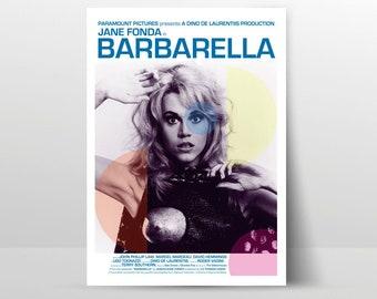 Barbarella Vintage Style 1968 Reproduction Jane Fonda Movie Poster 24x36 Giclee/'