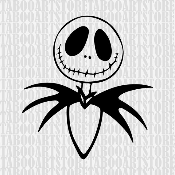 Jack Skellington Svg Jack Skellington Stensil Nightmare Before Christmas Svg Skellington Clipart Jack Skellington Vector Nightmare Eps