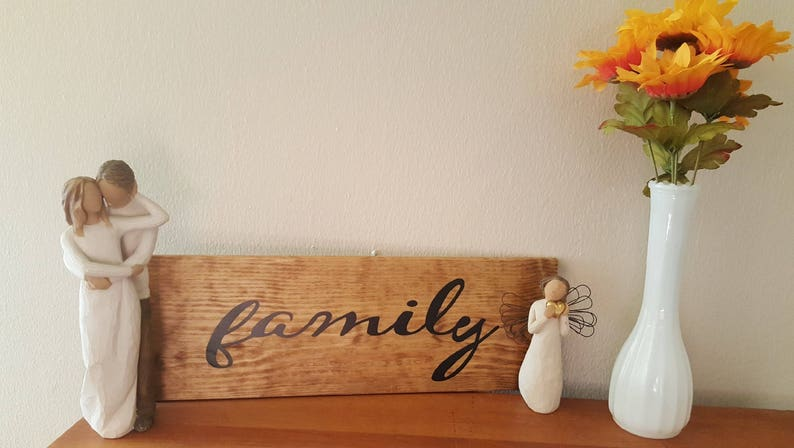 Family Sign Home Decor Wedding Gift Family Decor Wall Etsy