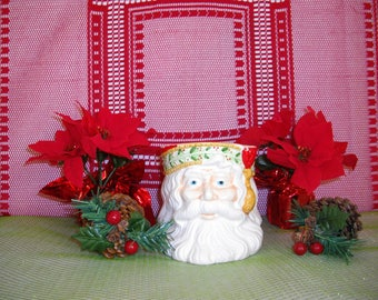 Saint Nick Planter/Candy Jar/Gift Basket/Caffco 1991