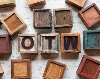 wooden mini boxes customize with letter or number rustic reclaimed lumber olde timber workshop otw small wooden boxes keepsake box