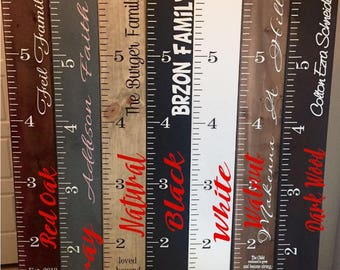 Growth charts Wooden height chart Kids height chart Family height chart Wooden growth chart Children height chart Giant ruler