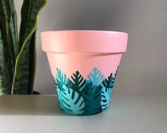 TY For Being a Friend   Unique Terra Cotta Succulent & Houseplant Planter Pot