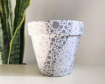 The Polka-Spot Pot Unique Terra Cotta Succulent & Houseplant Planter Pot