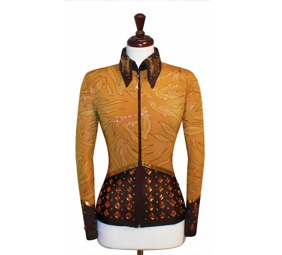 NEW Western Formal Equestrian Riding Show Wear Dress Shirt Blouse Jacket Rodeo Queen Horsemanship Showmanship Sportsmanship Pleasure ~ Women