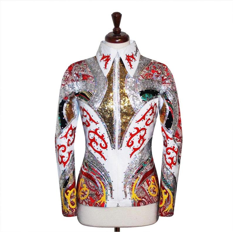 3X-LARGE Western Showmanship Horsemanship Pleasure Show Jacket Shirt Rodeo Queen