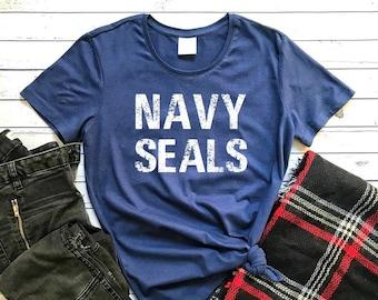 feb1fe09e Navy Shirt, Navy Seals T-Shirt, Tops & Tees, Navy Tee, Navy Seals Shirt,  Military Tees, Women's Shirts, Navy Seals, Blue Shirt