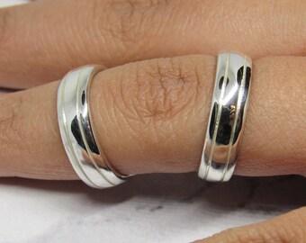 Boutonniere Splint Ring in Sterling Silver • R.A. Dip Rheumatoid • Arthritis Splint Ring Handmade • EDS splint ring • by Evabelle
