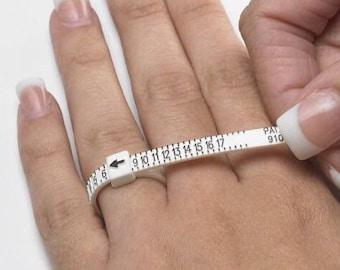 RING SIZER • Adjustable Ring Sizer • Reusable Ring Sizing Tool •  Multi-Sizer Adjustable Finger Gauge
