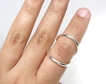 Sterling Silver Splint Ring Adjustable for PIP or DIP Joint • Swan Neck Splint • Arthritis ring • RA Rheumatoid Arthritis Splint •