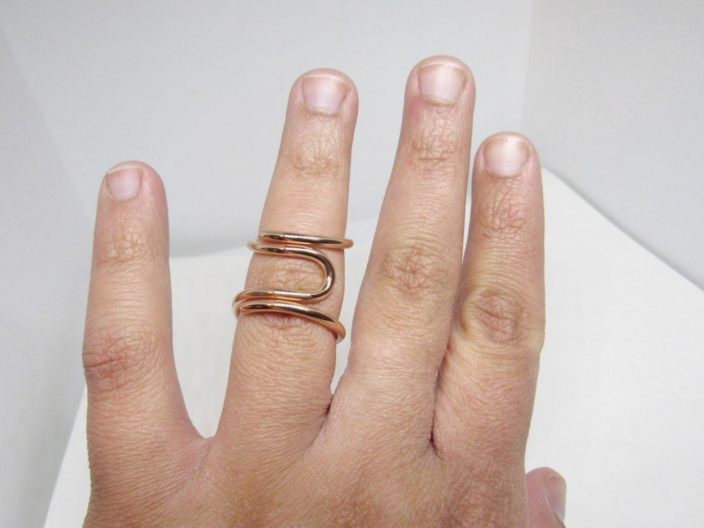 Arthritis Ring Mallet Finger Ring Lateral deviation Splint Sterling Silver Splint Ring Boutonniere Finger Splint