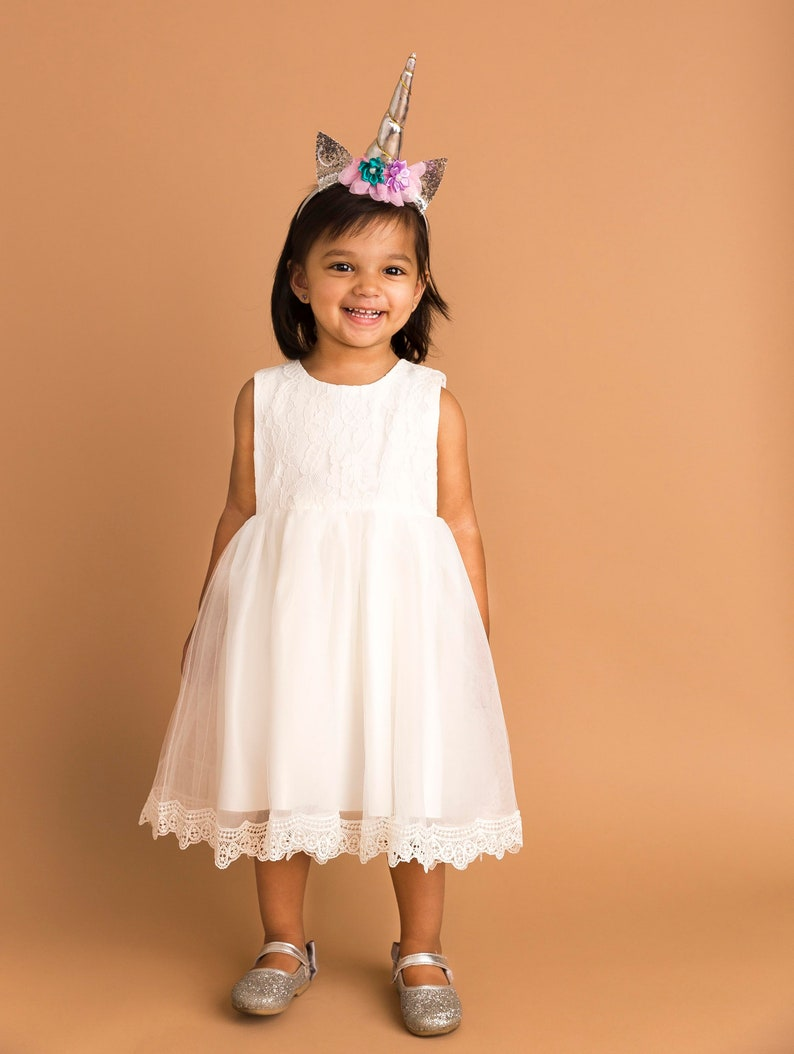 Baptism Dress For Baby Girl Christening Baby Girl Dress Gown image 0