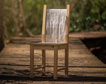 Macrame Wooden Chair