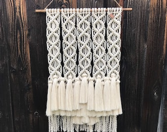Holy Neutral Fringe! Macrame Wall Hanging
