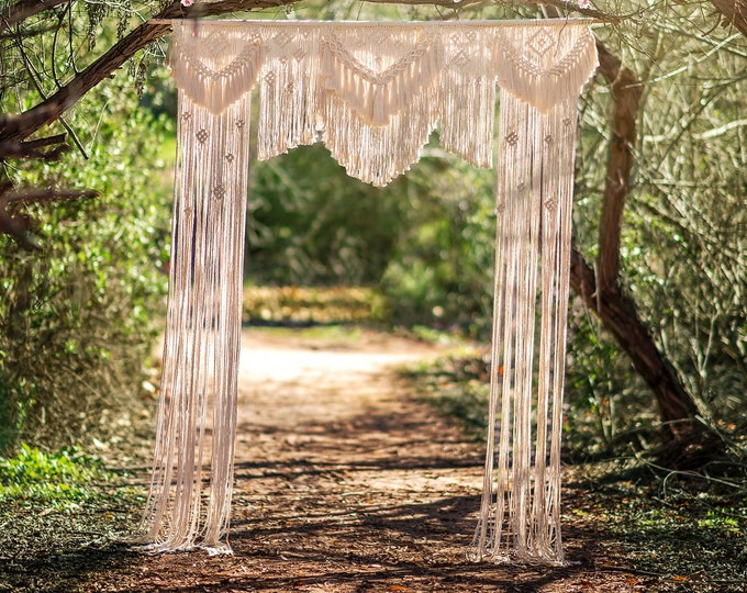 Featured listing image: Extra Large Macrame Wedding/Event Backdrop Rental