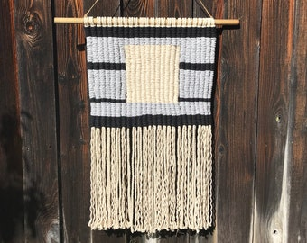 Modern, Structured Macrame Wall Hanging