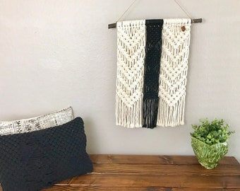 Black, Lacey Macrame Wall Hanging