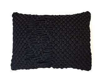 Handmade Macrame Throw Pillow: FREE SHIPPING!