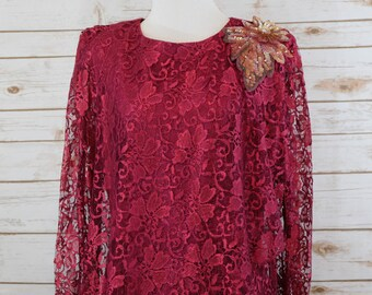 795d438c9307 Clearance Vintage Red Lace dress