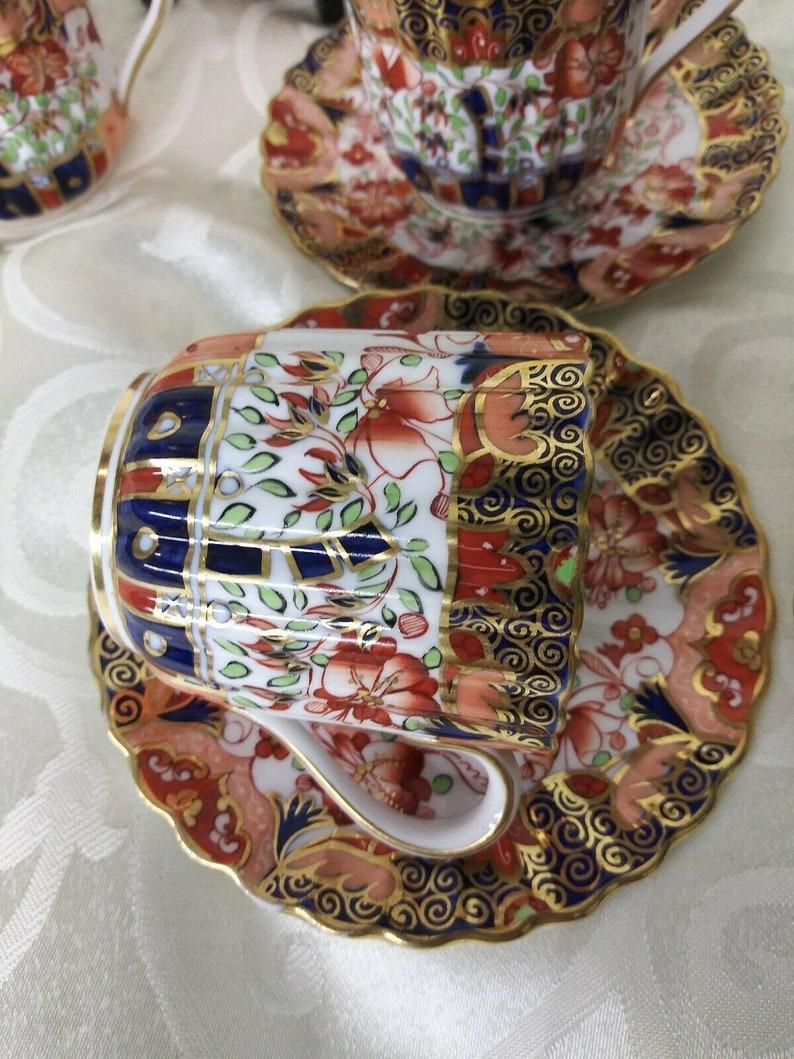 Copeland Spode Imari Set of Six Demitasse Cups and Saucers