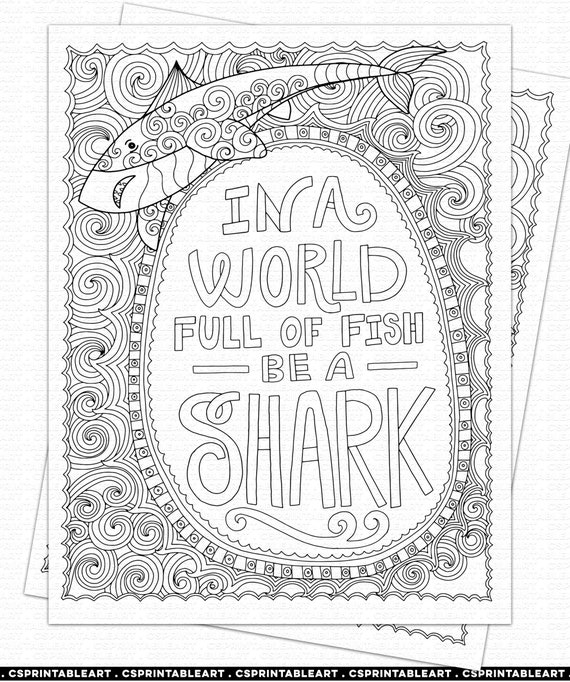 Shark Color Pages - Life is Sweeter By Design | 682x570