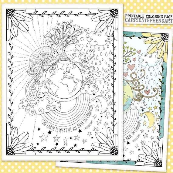 Printable Earth Day Coloring Pages - Mom. Wife. Busy Life.