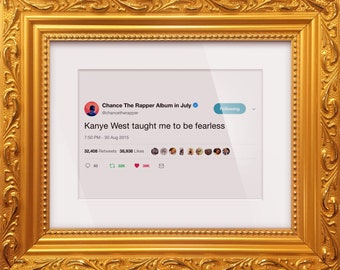 bd1b1e5b53443 Chance The Rapper Framed Tweet —