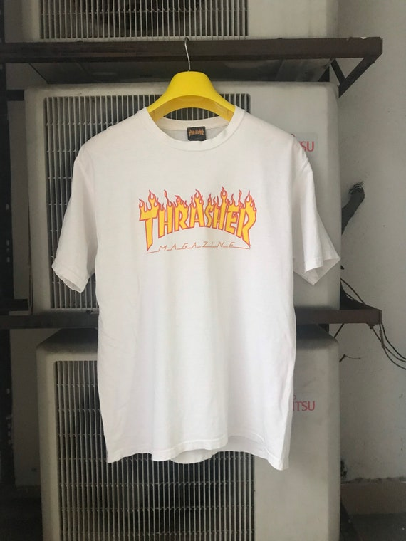 Thrasher skate magazine vintage flaming