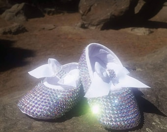 Handcrafted Baby Bling Rhinestone shoes 6bc352512d