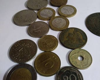 Coins and tokens, variety of countries.  Interesting coins, fun tokens.  Early 1900s to present.