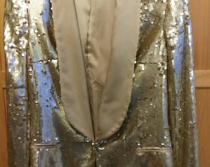 70s Disco blazer gold sequence