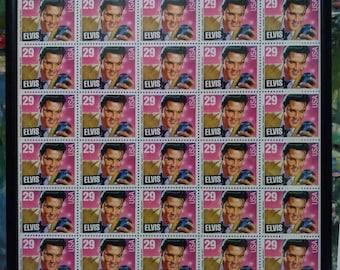 Elvis full sheet forty 29 cent uncut stamps framed. 1993