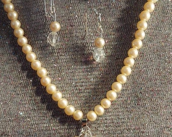 Pearl necklace perfect for a Bride original one of a kind design by artist Heather Hutcheson mixed vintageables vintage bits and pieces