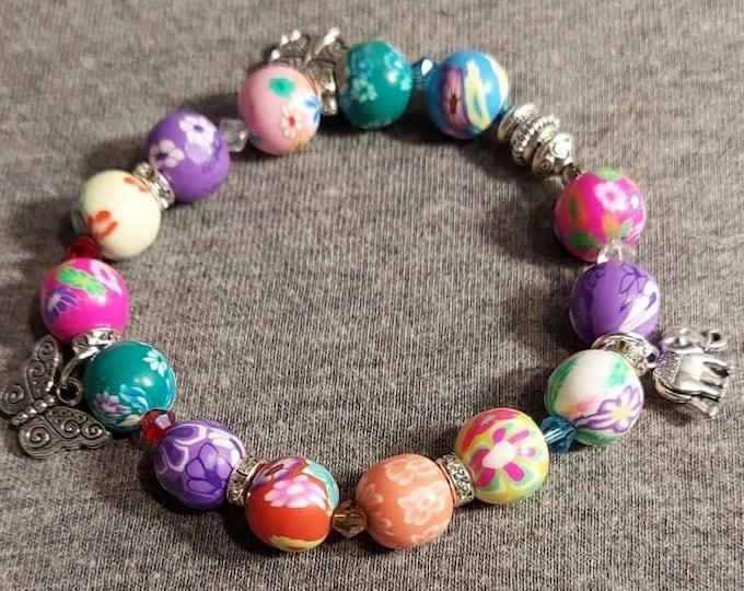 Beaded fun bracelet New Joyful original one of a kind by Artist Heather Hutcheson hh